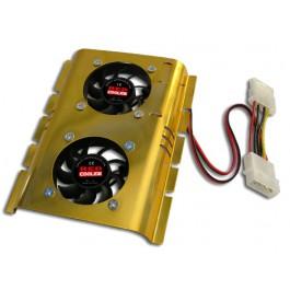 Ventilador doble con disipador disco duro