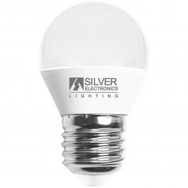 Bombilla led silver electronic decorativa esferica