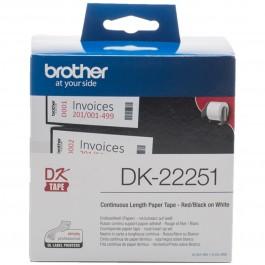 Etiquetas cinta continua brother dk22251 negro