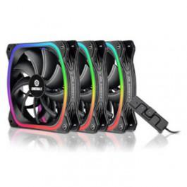 Pack ventiladores gaming squa rgb 3x12cm